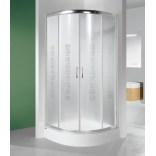Kabina prysznicowa półokrągła 80x190 profil graphit matowy, szkło GREY KP4/TX4-80-S grGY Sanplast KP4/TX4 600-270-0051-26-500