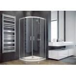Kabina prysznicowa półokrągła 90x90x185 Besco MODERN MP-90-185-G szkło grafitowe