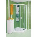 Kabina prysznicowa półokrągła NRKCP4-90 satyna+transparent Ravak RAPIER 3L370U00Y1