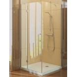 Kabina prysznicowa prostokątna 100x90x190 cm szkło czyste 6 mm z powłoką Active Shield New Trendy RENOMA D-0039A/D-0041B lewa