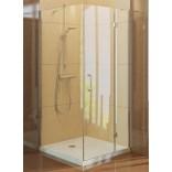 Kabina prysznicowa prostokątna 100x90x190 cm szkło czyste 6 mm z powłoką Active Shield New Trendy RENOMA D-0040A/D-0041B prawa