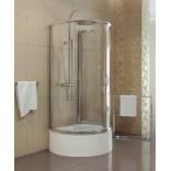 Kabina prysznicowa przyścienna 100x85x165 cm drzwi przesuwne, szkło perła 6 mm New Trendy RONDO K-0128 + DARMOWA DOSTAWA GRATIS !!!