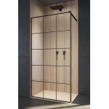 Kabina walk-in 130x200 Radaway MODO NEW FACTORY 389134-54-55 czarna