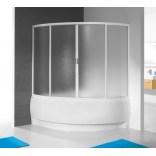 Kabina wannowa asymetryczna 145x145 Sanplast ASPIRA KWS/ASP 600-030-0930-12-520