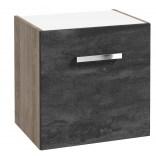 Komoda łazienkowa z koszem pod blat 50x40 Defra GRANADA 167-B-05006 beton czarny