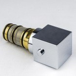 Komplet głowica termostatyczna z pokrętłem do baterii podtynkowej Tres CUADRO-TRES 299.195.06