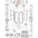 Łącznik narożny Sanplast 660-C1868 kpl