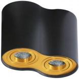 Lampa sufitowa Azzardo BROSS AZ2956 czarna/złota 2-punktowa