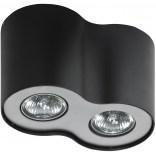 Lampa sufitowa Azzardo NEOS AZ0609 czarna / aluminium 2-punktowa