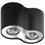 Lampa sufitowa Azzardo NEOS AZ0710 czarna / chrom 2-punktowa