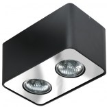 Lampa sufitowa Azzardo NINO AZ0738 czarna / chrom 2-punktowa