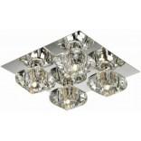 Lampa sufitowa Azzardo RUBIC AZ0492 4-punktowa chrom / kryształ