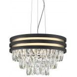 Lampa wisząca 38cm Zuma Line NAICA P0525-04A-P7D7 czarna