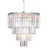 Lampa wisząca 39 cm Zuma Line AMADEO 17106/4+1-CHR chrom