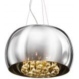 Lampa wisząca 40 cm Azzardo BURN AZ0699 chrom / kryształ