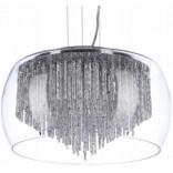 Lampa wisząca 40 cm Azzardo REGO AZ0999 chrom / transparentny / kryształ