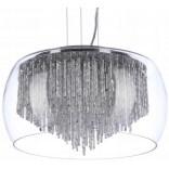 Lampa wisząca 50 cm Azzardo REGO AZ1000 chrom / transparentny / kryształ