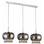 Lampa wisząca Azzardo BURN AZ2454 3-punktowa chrom / kryształ