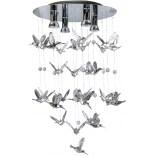Lampa wisząca + LED Azzardo BIRDS AZ2449 chrom
