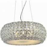 Lampa wisząca + LED Azzardo SOPHIA AZ0697 6-punktowa chrom / kryształ