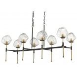 Lampa wisząca Zuma Line ROCK 8 P0488-08L-SEAC złota/czarna