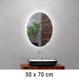 Lustro LED owalne 50x70 cm MCJ ELIPSO Z