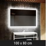 Lustro LED prostokątne 100x80 cm MCJ DIAMANT