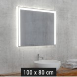 Lustro LED prostokątne 100x80 cm MCJ DIAMANT U