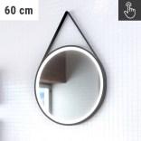 Lustro na pasku okrągłe 60 cm LED z wyłącznikiem dotykowym na lustrze MCJ TEXAS 60