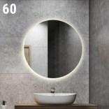 Lustro okrągłe 60x60 LED Etap GLOW LP-6 naturalny, wł. bezdotykowy