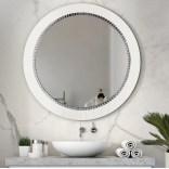 Lustro okrągłe 70 cm Giera Design BRACELET BRA/W/70 białe