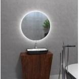 Lustro okrągłe 80 cm LED, wyłącznik bezdotykowy MCJ CERCHIO Z światło białe neutralne