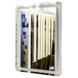 Lustro prostokątne 60x80 cm z podświetleniem, dotykowy włącznik podświetlenia, zegar ETAP LP-20 60x80