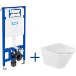 Miska WC bez kołnierza GAP ROUND + deska WC slim + stelaż podtynkowy Roca DUPLO ONE A893104470