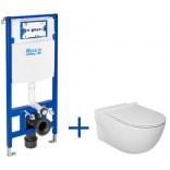 Miska WC bez kołnierza MERIDIAN + deska WC slim + stelaż podtynkowy Roca DUPLO ONE A893104520