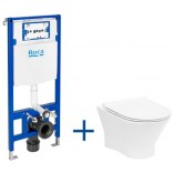 Miska WC bez kołnierza NEXO + deska WC slim + stelaż podtynkowy Roca DUPLO ONE A893104460