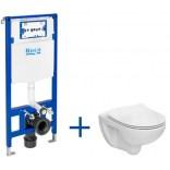Miska WC bez kołnierza VICTORIA + deska WC slim + stelaż podtynkowy Roca DUPLO ONE A893104390