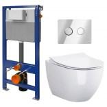 Miska WC + stelaż + deska slim wolnoopadająca + przycisk spłukujący SET B164 Cersanit URBAN HARMONY S701-364