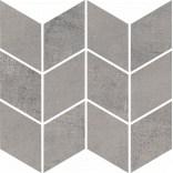 Mozaika cięta Romb Braid 20,5x23,8 Paradyż SPACE grafit mat