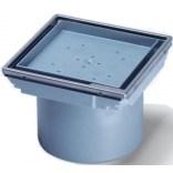 Nasadka pod płytki łazienkowe 110x110 z ramą system 125 Kessel 48211