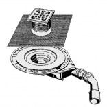 Odpływ łazienkowy 62 mm kratką 100 mm DN 40 / 50 Viega ADVANTIX 687694