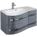 Oristo OPAL Szafka z umywalką 90 cm OR30-SD4S-90-3-L,UME-OP-90-92-L szary połysk lewa