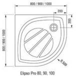 Panel Elipso Pro 80 SET Ravak GALAXY PRO XA934001010