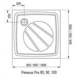 Panel Perseus Pro 90 Ravak GALAXY PRO XA837001010