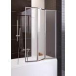 Parawan nawannowy 3-częściowy 100x140 cm, chrom, szkło przejrzyste Aquaform TANGANIKA 170-50001