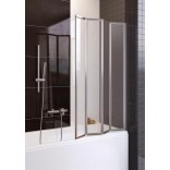 Parawan nawannowy 4-częściowy 85x140 cm, chrom, szkło przejrzyste Aquaform TANGANIKA 170-50000