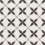 Patchwork clover black pattern  29,8 x 29,8 Opoczno  OP867-002-1