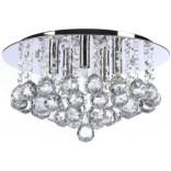 Plafon 38 cm + LED Azzardo BOLLA AZ1286 chrom / kryształ