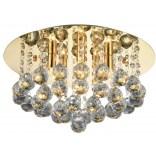 Plafon 38 cm + LED Azzardo BOLLA AZ3083 złoty / kryształ