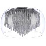 Plafon 50 cm Azzardo REGO AZ1000 chrom / transparentny / kryształ